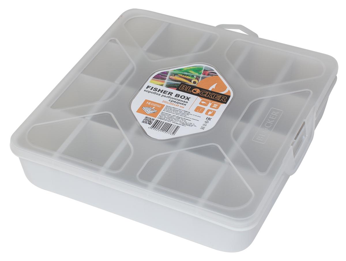 Коробка рыболовная Blocker, 20 х 20 х 4,5 смBR3777ПРМТКоробка Blocker необходима для хранения принадлежностей для рыбалки. Оптимальное и безопасное решения для организации и переноски крючков, грузил и прочего. Благодаря съемным перегородка, можно регулировать количество и размер ячеек. Прозрачный корпус и крышка позволяют увидеть содержимое, не открывая коробку.Размер изделия: 20 х 20 х 4,5 см.