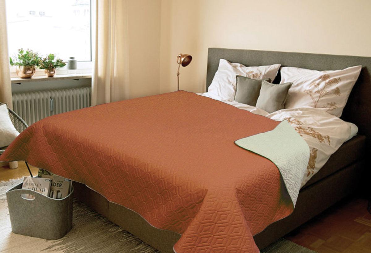 Покрывало Amore Mio Verdo, 1,5-спальное, цвет: коричневый81784Роскошное покрывало Amore Mio Verdo идеально для декора интерьера в различных стилевых решениях. Однотонное изделие изготовлено из высококачественного полиэстера и оформлено рельефным рисунком. Каждая сторона имеет свой цвет, поэтому настроение можно поменять, лишь перевернув покрывало на другую сторону. Покрывало приятное, мягкое, легкое, может послужить не только на кровати, но и в качестве облегченного одеяла, а также как дорожного пледа, великолепно в качестве покрывала для пикников. Занимает мало места, легко стирается, неприхотливо в уходе.