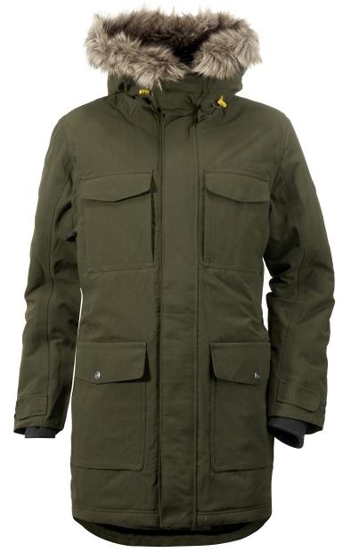 Куртка мужская Didriksons1913 Dana, цвет: темно-зеленый. 500974_068. Размер XL (52)500974_068Модная мужская куртка Didriksons1913 Dana изготовлена из ветронепроницаемой дышащей ткани - высококачественного полиамида с утеплителем из 100% полиэстера. Технология Storm System обеспечивает 100% водонепроницаемость и защиту от любых погодных условий. Швы проклеены. Подкладка выполнена из полиамида.Модель с несъемным капюшоном застегивается на пластиковую молнию и дополнительно на двойной ветрозащитный клапан с кнопками. Капюшон, оформленный съемным искусственным мехом, регулируется с помощью эластичных шнурков со стопперами. Спереди изделие дополнено двумя накладными карманами, закрывающимися на клапаны с кнопками, на груди - двумя накладными карманами с клапанами на кнопках и двумя прорезными карманами с застежками-молниями, с внутренней стороны - двумя накладными карманами. Под клапанами расположены прорезной карман на застежке-молнии для плеера и отверстие для наушников. Манжеты рукавов дополнены трикотажными напульсниками с отверстиями для больших пальцев. Ширина рукавов регулируются с помощью хлястиков с липучками. Нижняя часть изделия и талия с внутренней стороны регулируются за счет эластичных шнурков со стопперами.