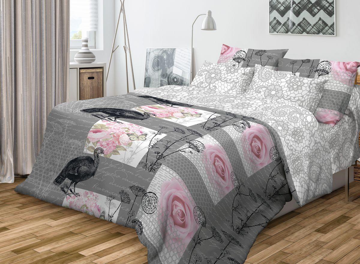 Комплект белья Волшебная ночь Coco, 2-спальный, наволочки 50x70, цвет: серый, розовый701977Роскошный комплект постельного белья Волшебная ночь Coco выполнен из натурального ранфорса (100% хлопка) и украшен оригинальным рисунком. Комплект состоит из пододеяльника, простыни и двух наволочек. Ранфорс - это новая современная гипоаллергенная ткань из натуральных хлопковых волокон, которая прекрасно впитывает влагу, очень проста в уходе, а за счет высокой прочности способна выдерживать большое количество стирок. Высочайшее качество материала гарантирует безопасность.Доверьте заботу о качестве вашего сна высококачественному натуральному материалу.