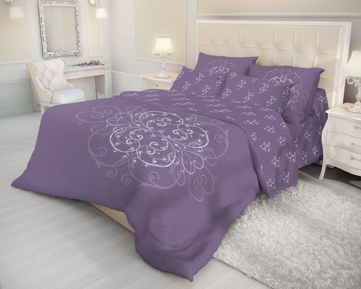 Комплект белья Волшебная ночь Royal Mark, евро, наволочки 50x70, цвет: фиолетовый. 702097702097Роскошный комплект постельного белья Волшебная ночь Royal Mark выполнен из натурального ранфорса (100% хлопка) и оформлен оригинальным рисунком. Комплект состоит из пододеяльника, простыни и двух наволочек. Ранфорс - это новая современная гипоаллергенная ткань из натуральных хлопковых волокон, которая прекрасно впитывает влагу, очень проста в уходе, а за счет высокой прочности способна выдерживать большое количество стирок. Высочайшее качество материала гарантирует безопасность.