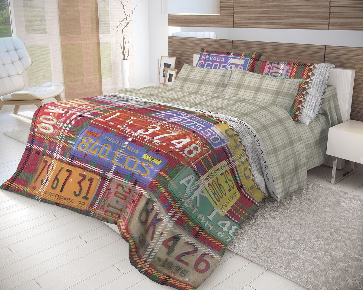 Комплект белья Волшебная ночь Nevada, 2-спальный, наволочки 50x70, цвет: мультиколор702162Роскошный комплект постельного белья Волшебная ночь Nevada выполнен из натурального ранфорса (100% хлопка) и украшен оригинальным рисунком. Комплект состоит из пододеяльника, простыни и двух наволочек. Ранфорс - это новая современная гипоаллергенная ткань из натуральных хлопковых волокон, которая прекрасно впитывает влагу, очень проста в уходе, а за счет высокой прочности способна выдерживать большое количество стирок. Высочайшее качество материала гарантирует безопасность.Доверьте заботу о качестве вашего сна высококачественному натуральному материалу.