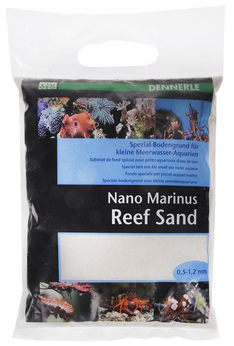 Грунт донный для аквариума Dennerle Nano ReefSand, специальный, 0,5-1,2 мм, 2 кгDEN5624Специальный грунт Dennerle Nano ReefSand предназначен специально для оформления небольших морских аквариумов. Изделие готово к применению. Не содержит вредных веществ, не выделяет фосфаты и нитраты.Грунт идеален для креветок, раков, бычков, трубчатых червей, морских анемон, улиток.Грунт порадует начинающих любителей природы и самых придирчивых дизайнеров, стремящихся к созданию нового, оригинального. Такая декорация придутся по вкусу и обитателям аквариумов и террариумов, которые еще больше приблизятся к природной среде обитания.Фракция: 0,5-1,2 мм.Вес: 2 кг.