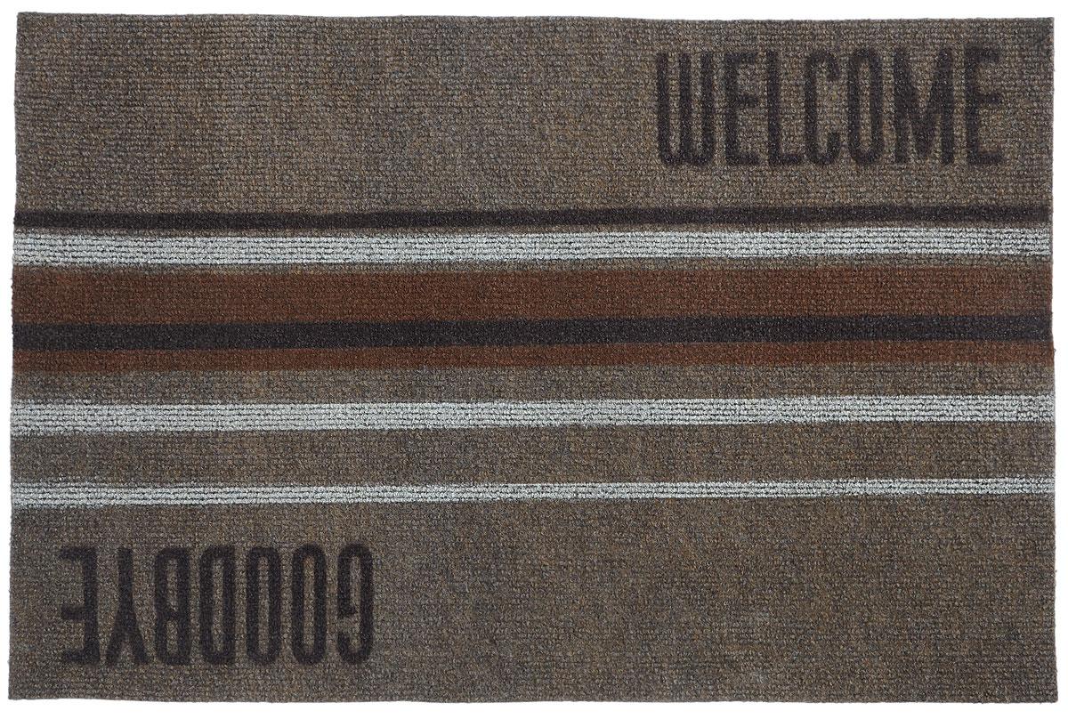 Коврик придверный EFCO Нью Эден, цвет: коричневый, белый, бежевый, 68 х 45 см18420_коричневый/полоскаОригинальный придверный коврик EFCO Нью Эден надежно защитит помещение от уличной пыли и грязи. Изделие выполнено из 100% полипропилена, основа - суперлатекс. Такой коврик сохранит привлекательный внешний вид на долгое время, а благодаря латексной основе, он легко чистится и моется.
