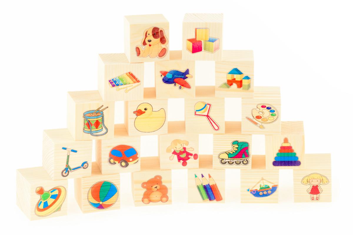 Развивающие деревянные игрушки Кубики Игрушки Д155c конструкторы игрушки из дерева трамвай