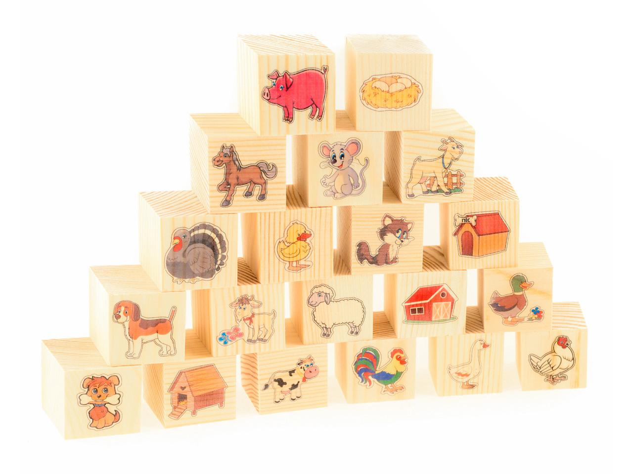 Развивающие деревянные игрушки Кубики На ферме развивающие деревянные игрушки кубики сладости