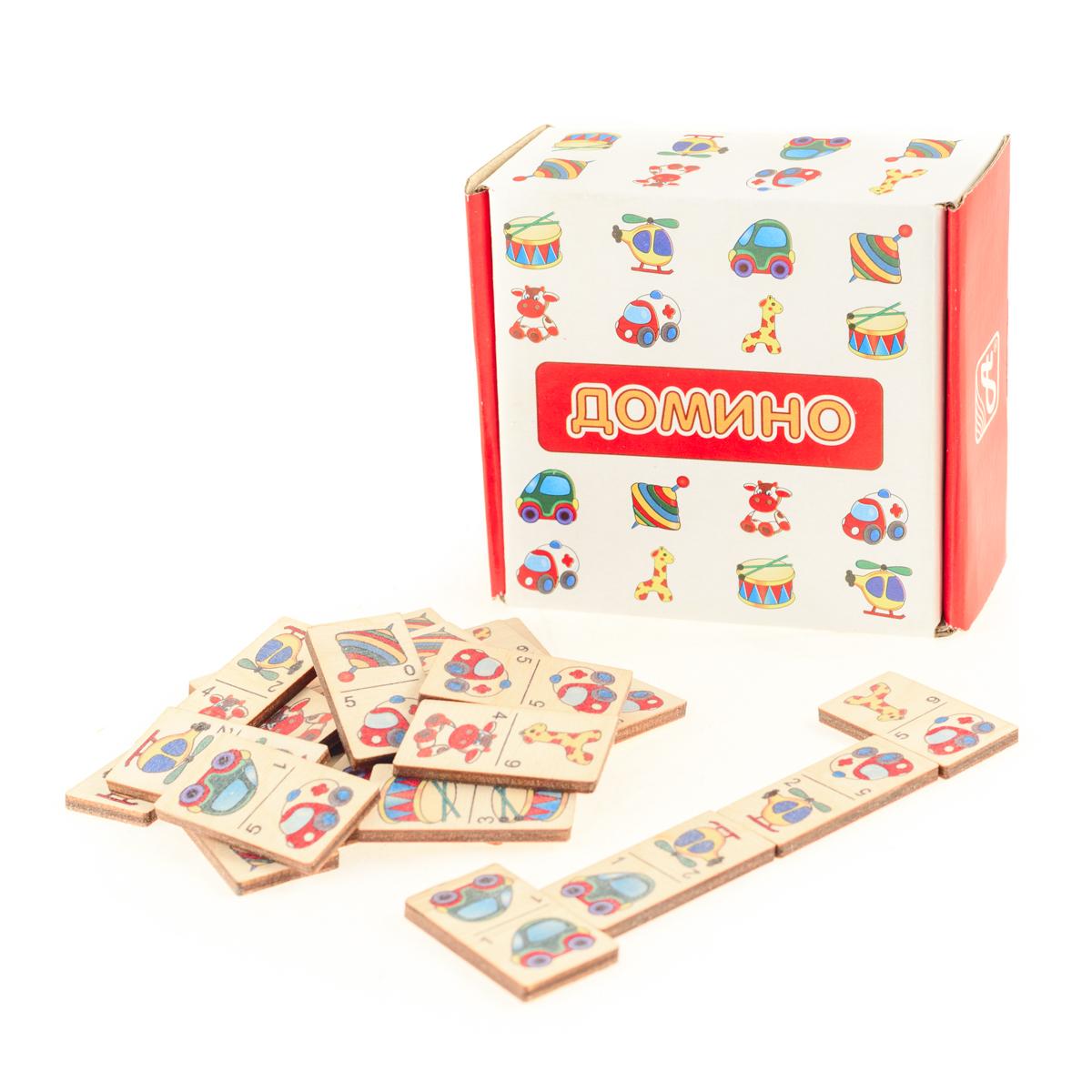 Развивающие деревянные игрушки Домино Игрушки домино маленький полиглот игрушки и животные