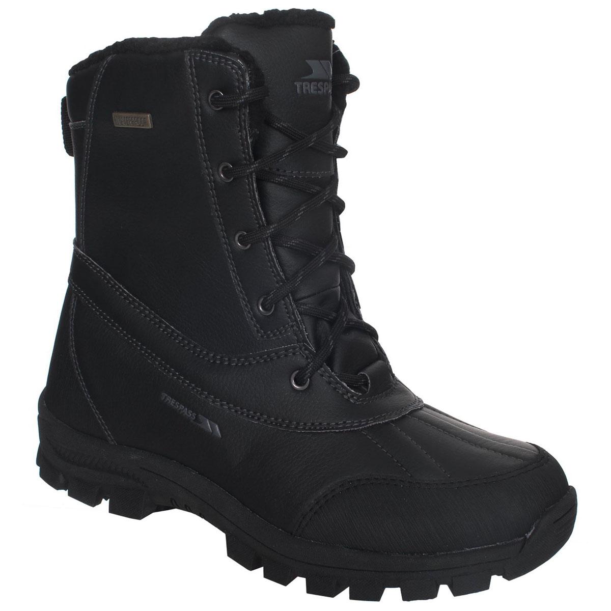 Ботинки трекинговые мужские Trespass Hikten, цвет: черный. MAFOBOJ20001. Размер 43MAFOBOJ20001Современные трекинговые ботинки Hikten от Trespass выполнены из водонепроницаемого полиуретана. Подкладка из флиса и стелька из текстиля не дадут ногам замерзнуть. Шнуровка надежно зафиксирует модель на ноге. Подошва дополнена рифлением. Ботинки прекрасно подойдут для пеших походов по пересеченной местности.
