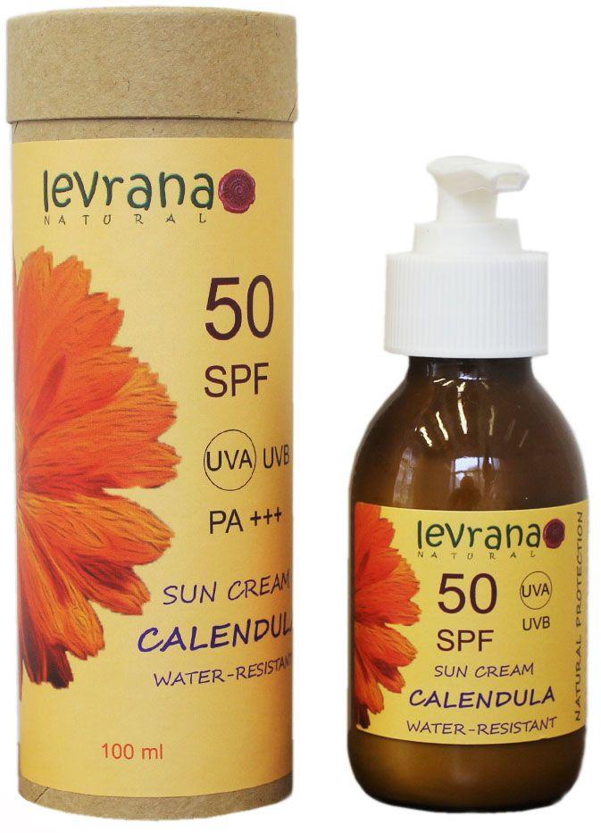 Levrana Солнцезащитный крем для тела Календула 50SPF, 100 мл косметика макс фактор купить