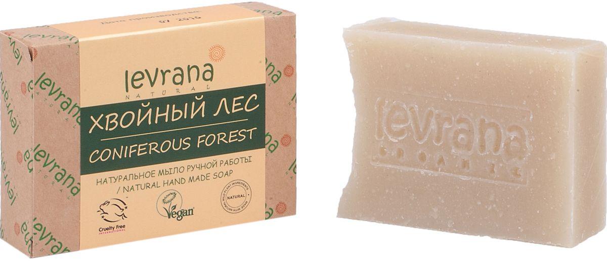 Levrana Натуральное мыло ручной работы Хвойный лес, 100 г053043001Натуральное мыло очень бережно очищает кожу лица и тела. Ежедневное умывание позволит вам избавиться от сальности, вы забудете что такое проблемная Т-зона.Натуральное мыло ручной работы сделано только на растительных маслах, и обогащено экстрактами растений и ягод.