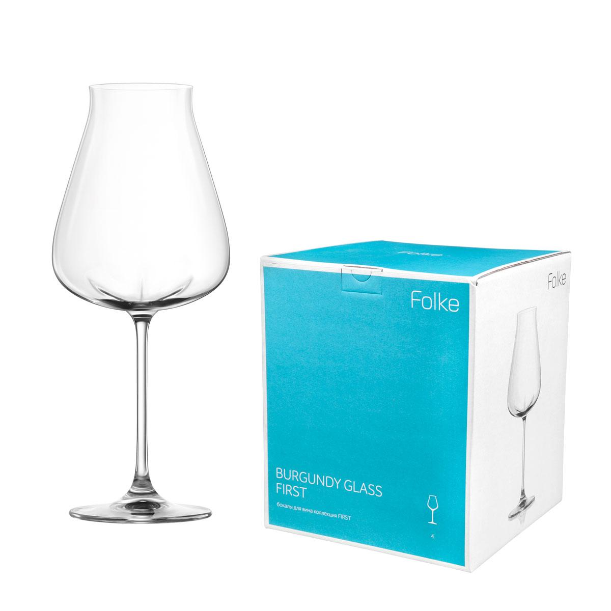 """Набор Folke """"Burgundy Glass"""" состоит из четырех бокалов, выполненных из хрустального стекла. Изделия оснащены ножками. Бокалы сочетают в себе элегантный дизайн и функциональность. Благодаря такому набору пить напитки будет еще вкуснее.   Коллекция """"First"""" - это бокалы из бессвинцового хрусталя высшего качества. Наша продукция отличается исключительной чистотой и повышенной устойчивостью к механическим повреждениям. Улучшенные характеристики изделий позволяют использовать их повседневно в домашних условиях и в ресторанном бизнесе. Оригинальный дизайн позволяет любому напитку полностью раскрыться и заиграть новыми красками. Это поистине уникальное творение современных технологий и многолетнего опыта лучших мировых сомелье."""
