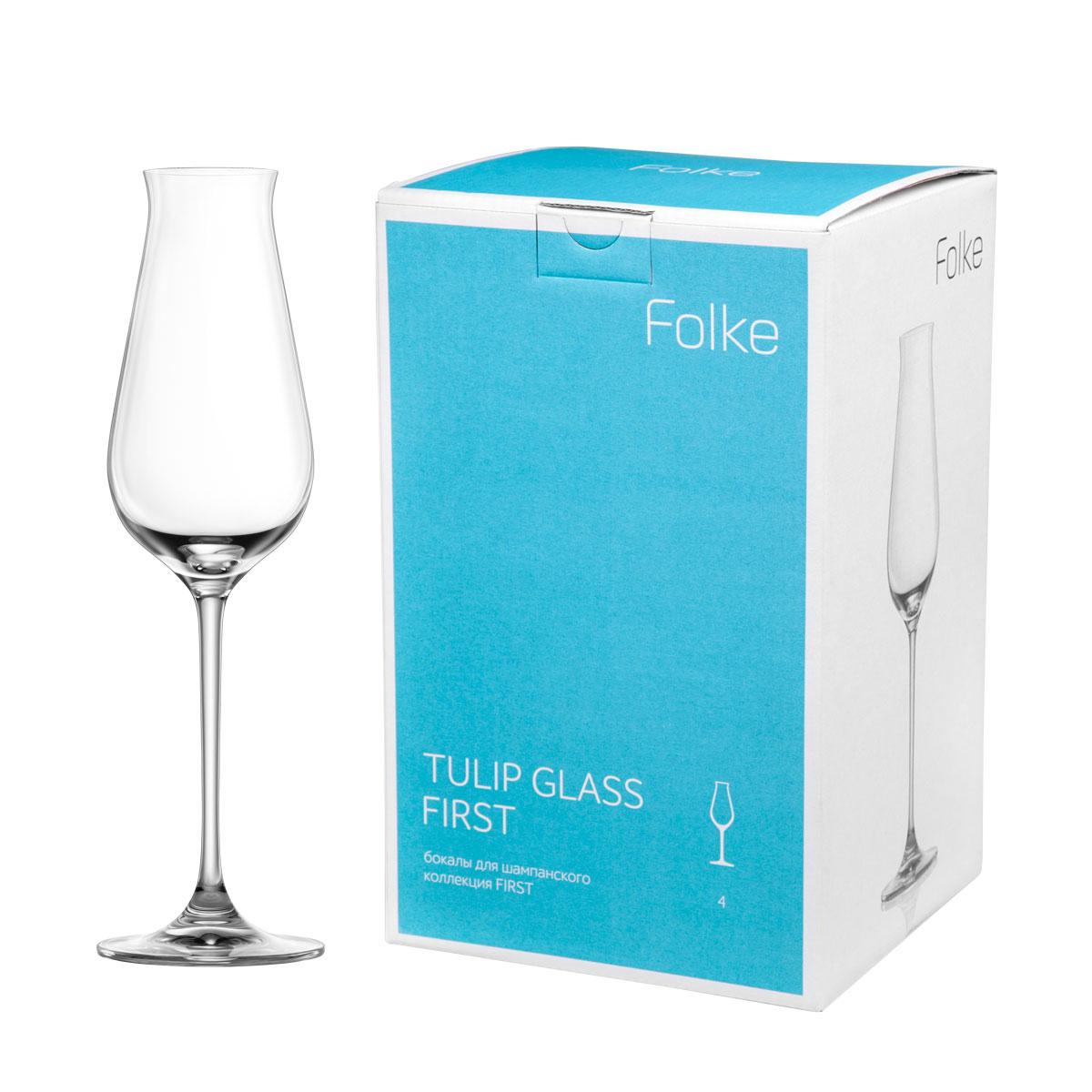 Набор бокалов для шампанского Folke Tulip Glass, 240 мл, 4 шт. 2007180U2007180UНабор Folke Tulip Glass состоит из четырех бокалов, выполненных из хрустального стекла. Изделия оснащены ножками. Бокалы сочетают в себе элегантный дизайн и функциональность. Благодаря такому набору пить напитки будет еще вкуснее. Коллекция First - это бокалы из бессвинцового хрусталя высшего качества. Наша продукция отличается исключительной чистотой и повышенной устойчивостью к механическим повреждениям. Улучшенные характеристики изделий позволяют использовать их повседневно в домашних условиях и в ресторанном бизнесе. Оригинальный дизайн позволяет любому напитку полностью раскрыться и заиграть новыми красками. Это поистине уникальное творение современных технологий и многолетнего опыта лучших мировых сомелье.