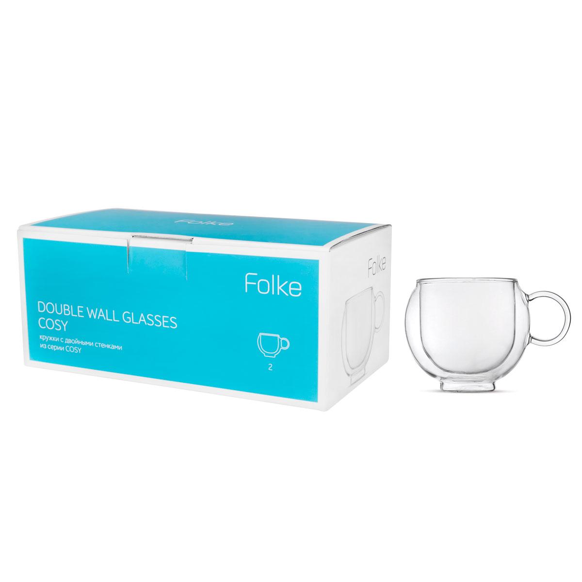 """Набор """"Folke"""" состоит из 2 кружек, выполненных из  боросиликатного стекла. Благодаря двойным стенкам кружки  не только дольше сохраняют температуру напитков, но и  защищают от ожогов.  Такую кружку можно спокойно держать ее в руке, даже если  пьете горячий чай или кофе. Идеально подходит как для  горячих, так и для холодных напитков."""
