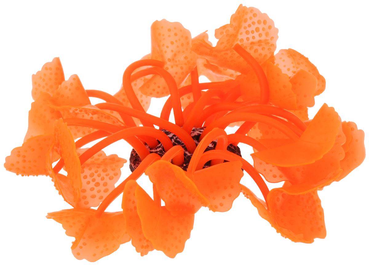 Декорация для аквариума Barbus  Коралл , силиконовая, цвет: оранжевый, 5,5 х 5,5 х 12 см - Аксессуары для аквариумов