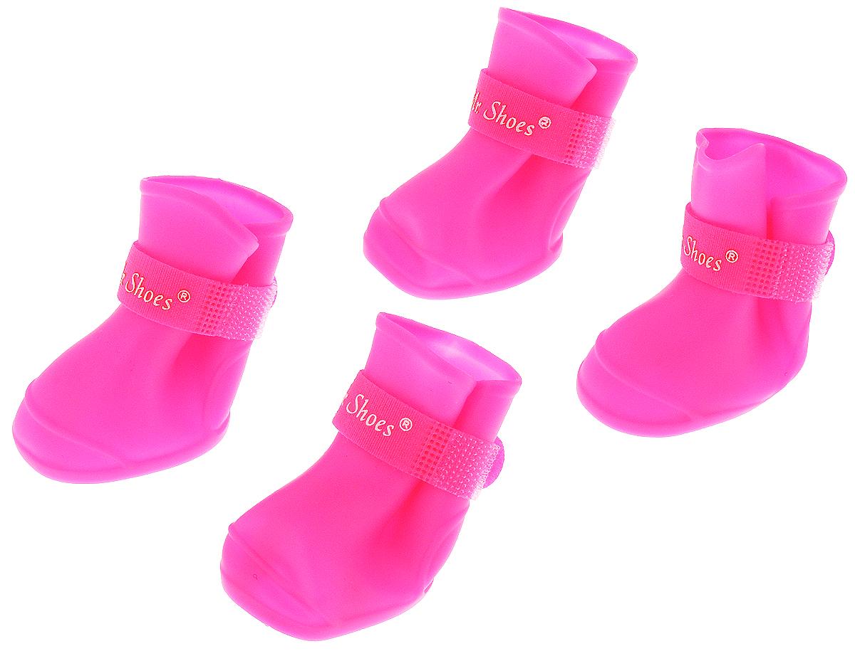 Сапоги резиновые для собак  Triol , унисекс, цвет: розовый. Размер M - Одежда, обувь, украшения