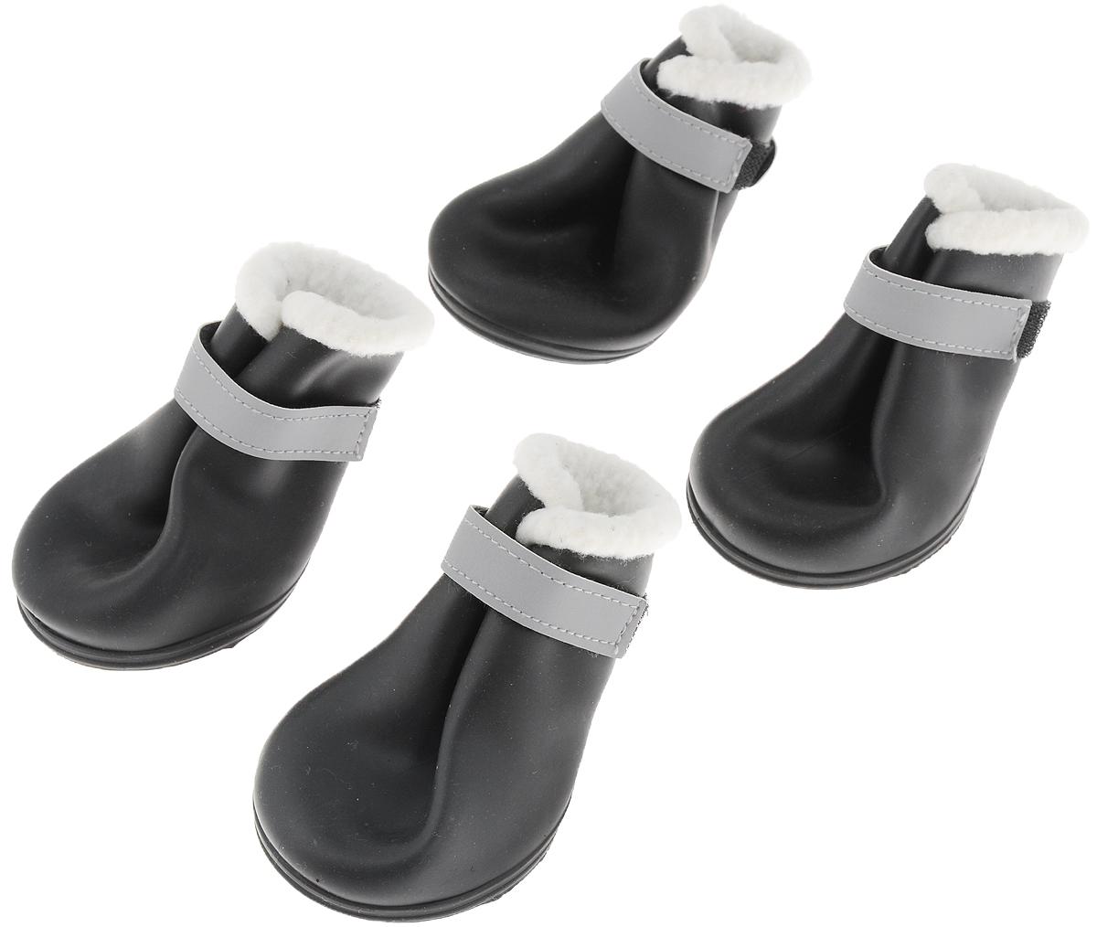 Сапоги резиновые для собак  Triol , утепленные, унисекс. Размер XS - Одежда, обувь, украшения