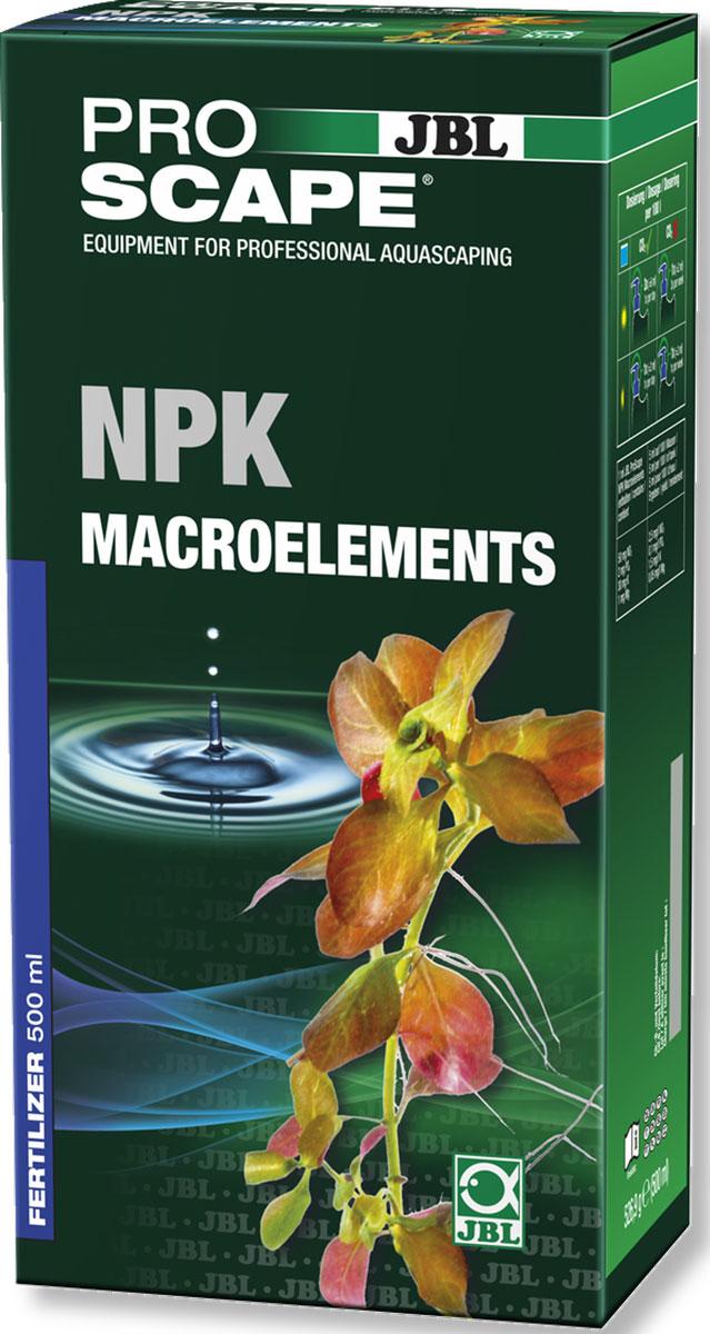 Удобрение для растений JBL ProScape NPK Macroelements, азотно-фосфорно-калийное, 500 млJBL2111500Удобрение JBL ProScape NPK Macroelements - дополнительное питание для водных растений. Содержит азот в виде нитрата, фосфор в виде фосфата, калий и магний. Обеспечивает здоровый рост растений, предотвращает симптомы дефицита микроэлементов. Акваскейпинг - искусство проектирования аквариумного пейзажа. При этом возникают творческие сочетания растений, точные копии надводного пейзажа или естественной среды обитания. В акваскейпе мало или совсем нет рыб и беспозвоночных. Таким образом, запас питательных веществ для растений меньше, а их рост ограничен. Азота, фосфора и других минералов мало, их нужно вносить дополнительно. Для здорового роста растений в красивом подводном пейзаже растениям нужен свет, СО2 и правильные питательные вещества. Дозировка зависит от освещенности, подачи и потребления CO2. Доза: 6 мл/100 л в день при ярком свете и CO2; 2 мл/100 л 3 раза в неделю при ярком свете без CO2; 2 мл/100 л в день при слабом свете с CO2; 2 мл/100 л в неделю при слабом свете без CO2. Железо / микроэлементы следует вносить отдельно. Проверяйте тестами JBL на нитрат, фосфат и калий. Товар сертифицирован.