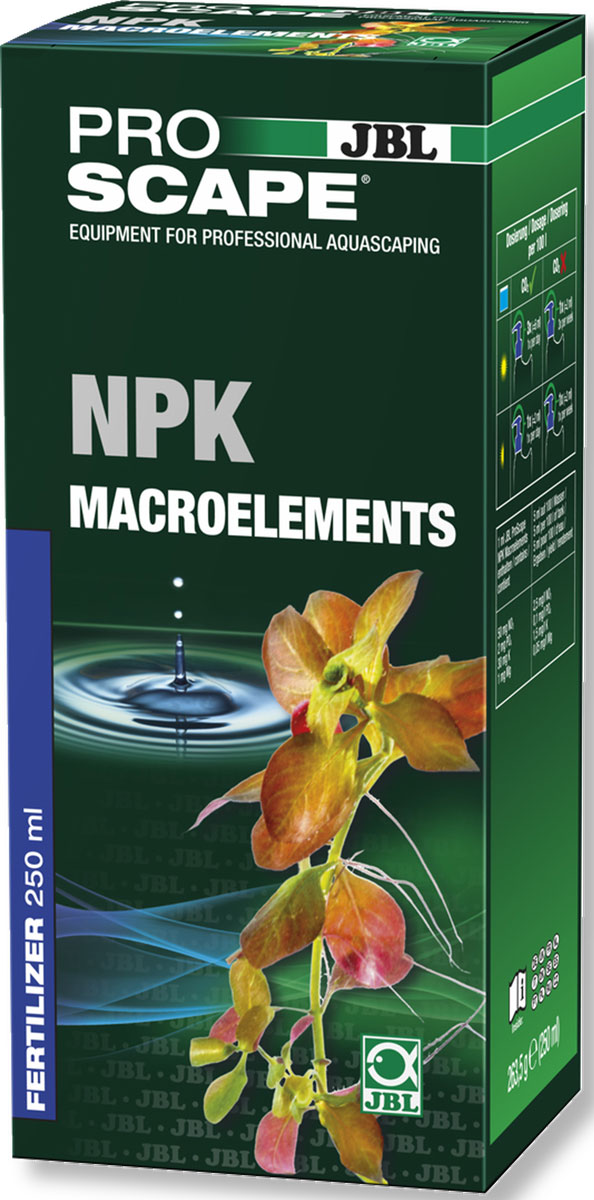 Удобрение для растений JBL ProScape NPK Macroelements, азотно-фосфорно-калийное, 250 мл jbl proflora bio co2 bio160 2 jbl6444600