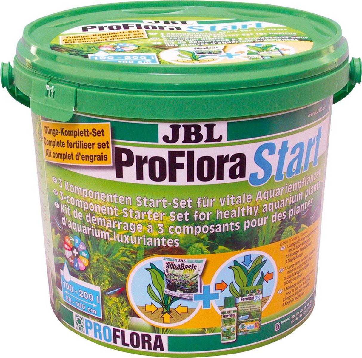 Стартовый комплект для аквариумных растений JBL ProFlora Start, для аквариумов 100-200 лJBL2021800Комплект JBL ProFlora Start - 3-компонентный стартовый комплект удобрений для живых аквариумных растений. Для аквариумов 100-200 л (ширина 80-100 см). Комплект удобрений от JBL обеспечит гарантированный успех в деле озеленения аквариума. JBL ProFlora Start содержит: - JBL AquaBasis plus (готовая смесь питательных элементов) Смесь питательного субстрата длительного действия AquaBasis plus хранит питательные вещества: содержит важные питательные вещества для растений, например, железо и глину, сохраняет питательные вещества и выделяет при необходимости снова. - JBL Ferropol (жидкое базисное удобрение) Основное удобрение Ferropol для хорошего роста растений без симптомов дефицита железа и других важных микроэлементов. - JBL Ferropol 24 (ежедневное удобрение) Ежедневное удобрение Ferropol 24 - ежедневное питание для красивых аквариумных растений. Эти три компонента входят в концепцию 7 шагов для превосходного роста растений, разработанную фирмой JBL. Питание для аквариумных растений - это залог их здоровья. Здоровые растения предотвращают рост водорослей, обеспечивают аквариум кислородом, предоставляют укрытие и снижают количество патогенов. Кроме того, здоровые растения - здоровые рыбы. Удобрения JBL содержат основные питательные вещества и жизненно важные микроэлементы. Таким образом, растения получают питательные вещества для поглощения через листья и корни, чтобы предотвратить симптомы дефицита (например, нехватку железа). Товар сертифицирован.