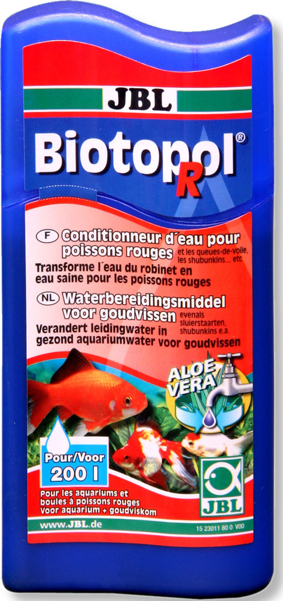 JBL Biotopol R Препарат для подготовки воды с 6-кратным эффектом для золотых рыбок, 100 мл