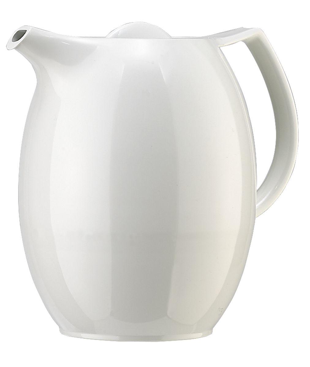 Термос-чайник Emsa Ellipse, с ситечком, цвет: белый, 1 л. 503692503692Удобный термос-чайник Emsa Ellipse прекрасно подходит для заваривания чая и различных травяных настоев. Корпус изделия выполнен извысококачественного белого пластика под фарфор, а внутренняя колба - из стекла. Изделие оснащено удобным носиком, который поможетаккуратно разлить содержимое по стаканам, а также ручкой эргономичной формы.Термочайник позволит легко и быстро заварить насыщенный и ароматный чай, а ситечко для заварки не даст попасть в напиток листочкам икусочкам фруктов. Поворотная крышка быстро, легко и герметично закрывается, сохраняя температуру напитку.Объем чайника: 1 литр.