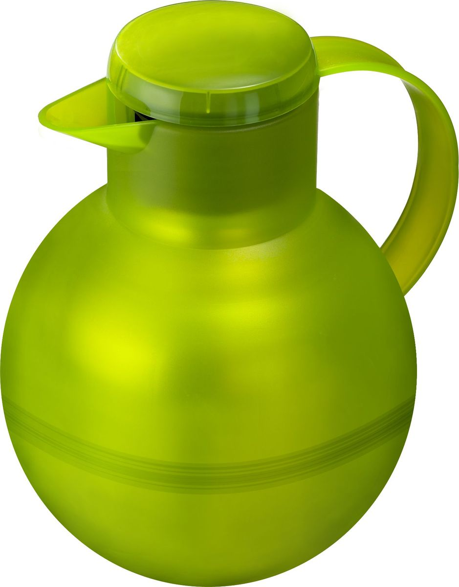 Термос-чайник Emsa Samba Tea, цвет: зеленый, 1 л509156Удобный термос-кофейник Emsa Samba Tea станет незаменимым аксессуаром в поездках, выездах на природу, дачу, рыбалку или пикник. Корпус кувшина выполнен из высококачественного пластика, а колба - из стекла. На крышке изделия имеется кнопка Quick Press , с помощью которой вы сможете легко открыть герметичный клапан, а удобные носик и ручка позволят аккуратно разлить содержимое по стаканам. Пробка легко разбирается и превосходно моется.Линейка термосов Emsa Samba Tea славится элегантным дизайном, разнообразием цветов, высококачественной вакуумной индийской стеклянной колбой с серебряным напылением, сохраняющей ваш напиток горячим до 12 часов и холодным до 24 часов. 100 % герметичность сохранит аромат вашего напитка и не допустит в него посторонние запахи.