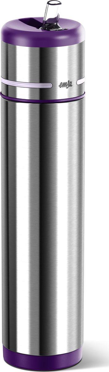 Термос-фляга Emsa Mobility, цвет: фиолетовый, 0,7 л509231Вакуумный термос-фляга Emsa Mobility имеет современный дизайн и 100% герметичен. Имеет двустенную вакуумную колбу из нержавеющей стали и встроенный дозатор.