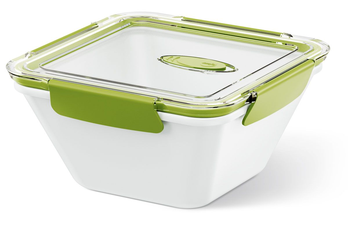 Ланч-бокс Emsa Bento Box, цвет: белый, зеленый, 1,5 л513961Ланч-бокс Emsa Bento Box - еда с собой в стильной упаковке. В удобном и практичном ланч-боксе еда дольше останется свежей, вкусной и надежно упакованной.На крышке имеетсяклапан для щадящего режима разогревания в микроволновке. Ланч-бокс подходит не только для разогрева пищи, но и для заморозки. Можно мыть в посудомоечной машине. Современный дизайн позволяет брать контейнер с собой на учебу, работу или прогулку.