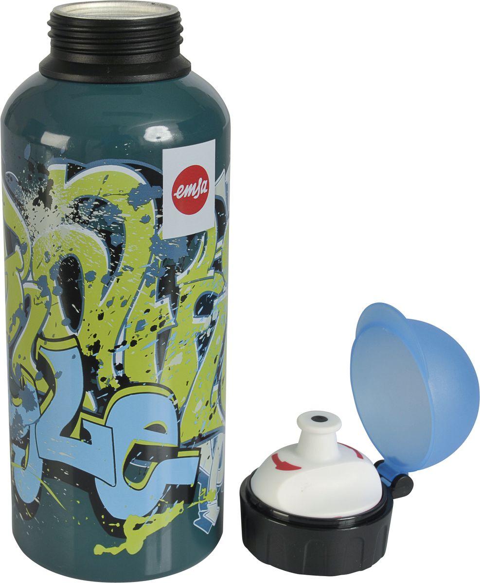Бутылка Emsa Teens. Graffiti, с крышкой, 0,6 лcontigo0459Оригинальная бутылка-фляга Emsa Teens. Graffiti оснащена питьевым клапаном, благодарякоторому, пить можно прямо на ходу, не боясь разлить содержимое.Особенности бутылки: BPA Free.100 % герметичная.100 % надежная: крышка при открытом клапане не закрывается.100 % гигиенична благодаря наружной резьбе.Питьевой клапан легко моется. Материал бутылки устойчив к воздействию фруктовых кислот.Яркий дизайн и удобство использования сделают эту бутылку отличным спутником на прогулке,учебе или в путешествии.
