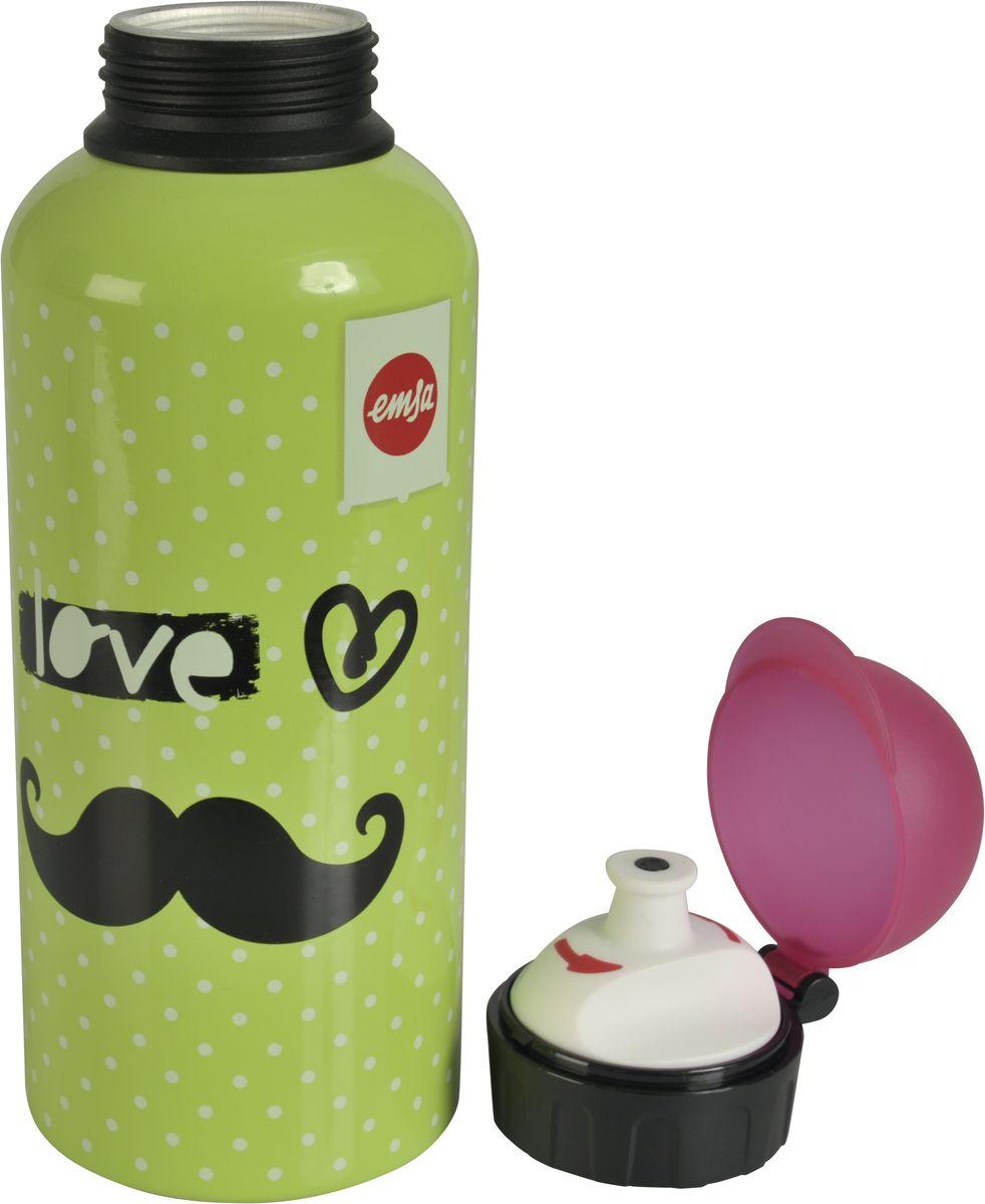 Бутылка Emsa Teens. Moustache, с крышкой, 0,6 л514413Оригинальная бутылка-фляга Emsa Teens. Moustache оснащена питьевым клапаном, благодаря которому, пить можно прямо на ходу, не боясь разлить содержимое.Особенности бутылки: BPA Free. 100 % герметичная. 100 % надежная: крышка при открытом клапане не закрывается. 100 % гигиенична благодаря наружной резьбе.Питьевой клапан легко моется.Материал бутылки устойчив к воздействию фруктовых кислот.Яркий дизайн и удобство использования сделают эту бутылку отличным спутником на прогулке, учебе или в путешествии.