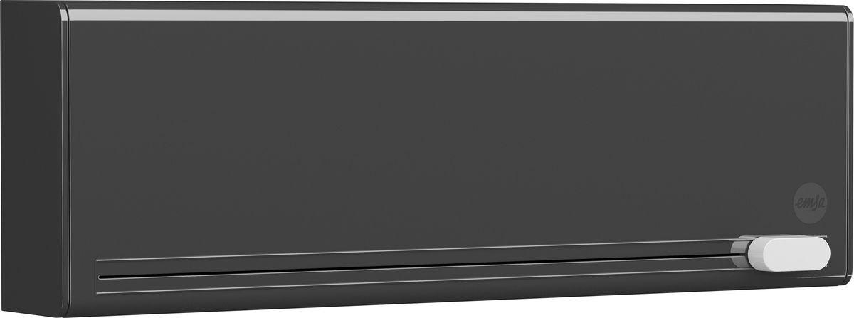 Диспенсер для пленки и фольги Emsa Smart, цвет: черный, 38 x 12,8 x 7,7 см. 515232515232Диспенсер для пленки и фольги Emsa Smart выполнен из пластика. С его помощью можно легко и компактно разместить пищевую пленку и фольгу прямо в кухонном шкафу. Благодаря умной системе лезвий отделить пищевую пленку или алюминиевую фольгу получится без рваных краев - скомканный край пленки остался в прошлом. Оригинальный дизайн станет отличным дополнением к вашему интерьеру.