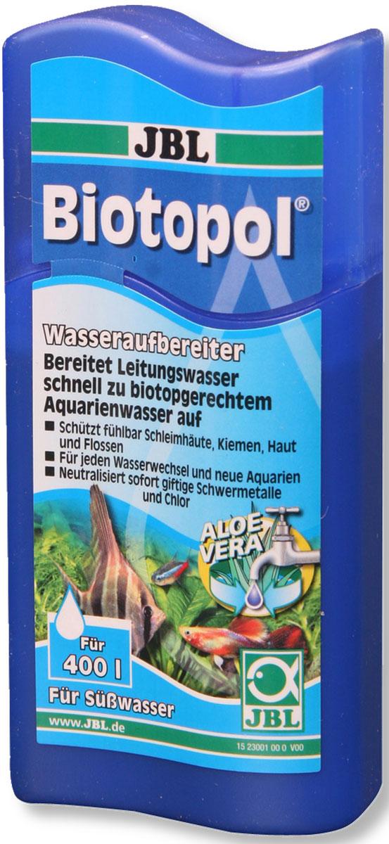 Кондиционер для аквариума JBL Biotopol, для подготовки воды, 100 млJBL2300159Кондиционер для аквариума JBL Biotopol предназначен для создания аквариумной воды, подходящей для рыб и растений. Используется для новых пресноводных аквариумов, при подмене воды и для укрепления иммунитета после болезни рыб и водяных черепах. Средство связывает проблемные вещества из водопроводной воды: нейтрализует медь, свинец, цинк, хлор и хлорамин. Здоровая вода - здоровые рыбы: средство защищает слизистые оболочки, жабры, кожу и плавники при помощи алоэ вера. Защищает от стресса и укрепляет иммунную систему с помощью комплекса витаминов B. Применение: 10 мл на 40 л воды.