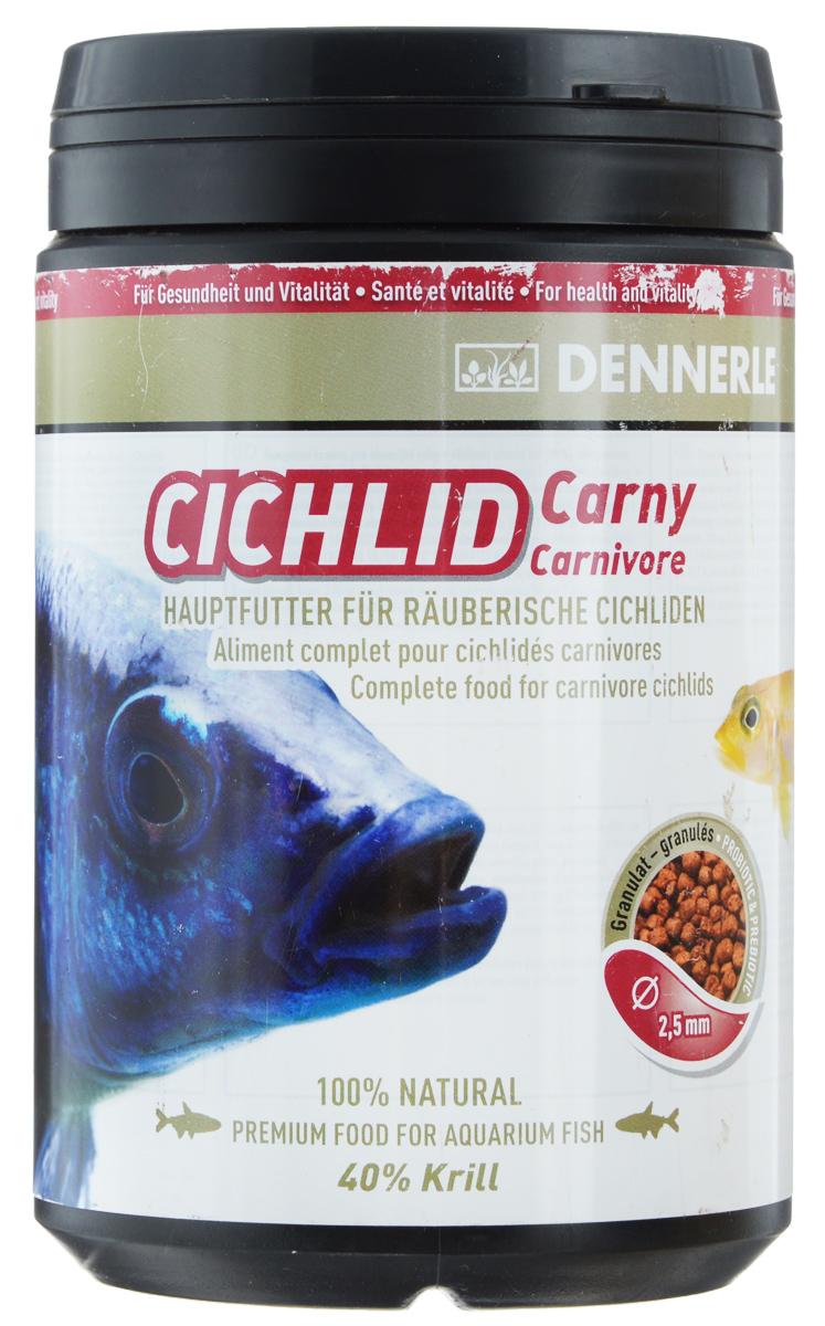 Корм Dennerle Cichlid Carny для плотоядных цихлид, 500 гDEN7519Dennerle Cichlid Carny - основной корм в форме гранул дляплотоядных цихлид. Многие цихлиды из озер Малави иТанганьика, такие как неолампрологусы, являются вестественной среде обитания хищниками и питаютсязоопланктоном и ракообразными.Новый корм для рыб базируется на основе биотическойкормовой базы Dennerle Biotik-System: комбинациипребиотиков и пробиотиков с бета-глюканами длярегулирования пищеварения и активизации иммуннойсистемы.Состав: арктический криль (40%), пшеничный протеин, речнойбокоплав, водяная блоха, кузнечик, каракатица, жир морскихживотных с омега-3 ПНЖК, личинка мухи, артемия и науплияартемии, экстракт зеленого губчатого моллюска, краснаяличинка комара, известковые красные водоросли, травянойэкстракт, бета-глюканы.Аналитические компоненты: неочищенный протеин 58,8%,жир-сырец 10,2%, сырая клетчатка 4,2%, неочищенная зола11,1%, влага 9,1 %.Рекомендации по кормлению: 2-3 раза в день в количестве, которое рыбы смогут съесть в течение 1 минуты.Товар сертифицирован.
