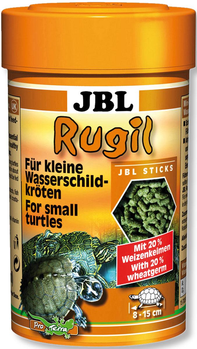 JBL Rugil Корм в форме палочек для маленьких водных черепах, 100 мл (35 г) островок для водных черепах киев
