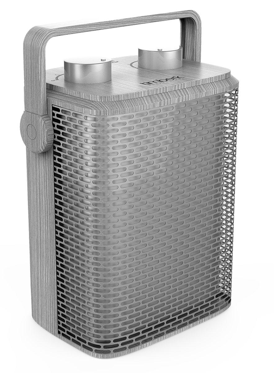 Timberk TFH T15PDS.D тепловентиляторCB 090Тепловентилятор Timberk TFH T15PDS.D в эксклюзивном цветовом решении имеет настольное вертикальное размещение. Он обеспечивает мгновенный нагрев воздушного потока. Технология Anti-Dust - это съемный защитный фильтр на задней части корпуса прибора, препятствующий попаданию частиц пыли и улучшению качества воздуха.Два режима мощности на выбор (750/1500 Вт)Режим обдува без обогреваВысокоэффективный металлокерамический нагревательный элементКорпус с новейшей формой решетки