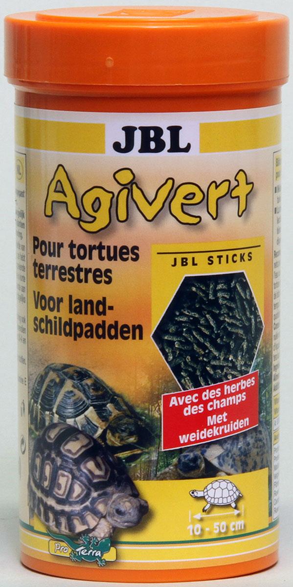 JBL Agivert Растительный корм в форме палочек для черепах, 1 л (420 г)