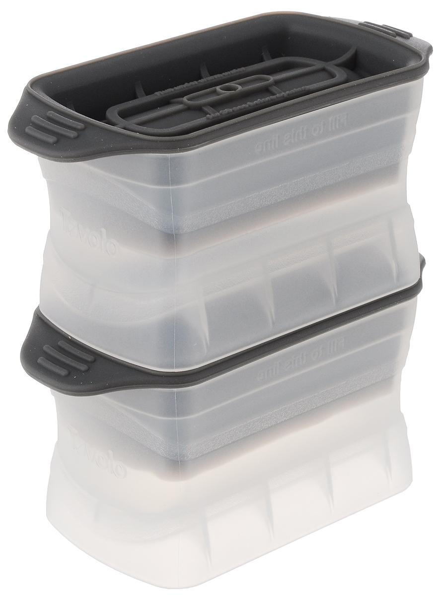 Набор форм для льда Tovolo, цвет: прозрачный, серый, 2 шт81-3996Добавьте вашим напиткам изысканности с помощью набора форм для льда Tovolo. Эти уникальные формы соединили в себе науку и искусство. В формочках можно заморозить лед небольшими (9 х 4 х 4 см) столбиками, которые идеально подойдут для хайболла. Силиконовая крышка плотно закупоривает форму и позволяет аккуратно и удобно разместить ее в морозильной камере.Размер формочки (с учетом крышки): 13 х 6,2 х 6,5 см.В комплекте две формочки для льда.