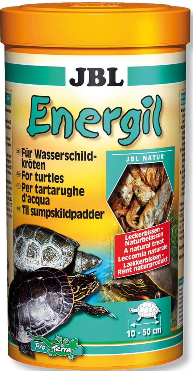 Корм для водных черепах JBL Energil, из целиком высушенных рыб и рачков, 1 л (150 г)JBL7031300Корм JBL Energil - это основной корм для болотных иводяных черепах размером 10-50 см. Корм состоит изотборных, высушенных целиком рыб и рачков. Он идеальноподобран с учетом естественных питательных потребностейкрупных водных черепах.Корм вносит разнообразие в привычное меню водныхчерепах, но охотно поедается и другими, разборчивыми в едеобитателями террариума. Форма корма в виде целыхкормовых существ, вызывающая необходимостьразмельчения их черепахами, развивает охотничий инстинкт,присущий данному виду, и обеспечивает активное движениечерепах. Рекомендации по кормлению: Молодые, растущие животные: высыпать в воду от 2 до 4 раз вдень столько, сколько съедается за 10-15 минут; взрослыеживотные: от 4 до 5 кормлений в неделю.Состав: моллюски и ракообразные, рыба и рыбные побочныепродукты.Анализ состава: белок 55%, жир 8%, клетчатка 2,5%, зола 18%. Товар сертифицирован.