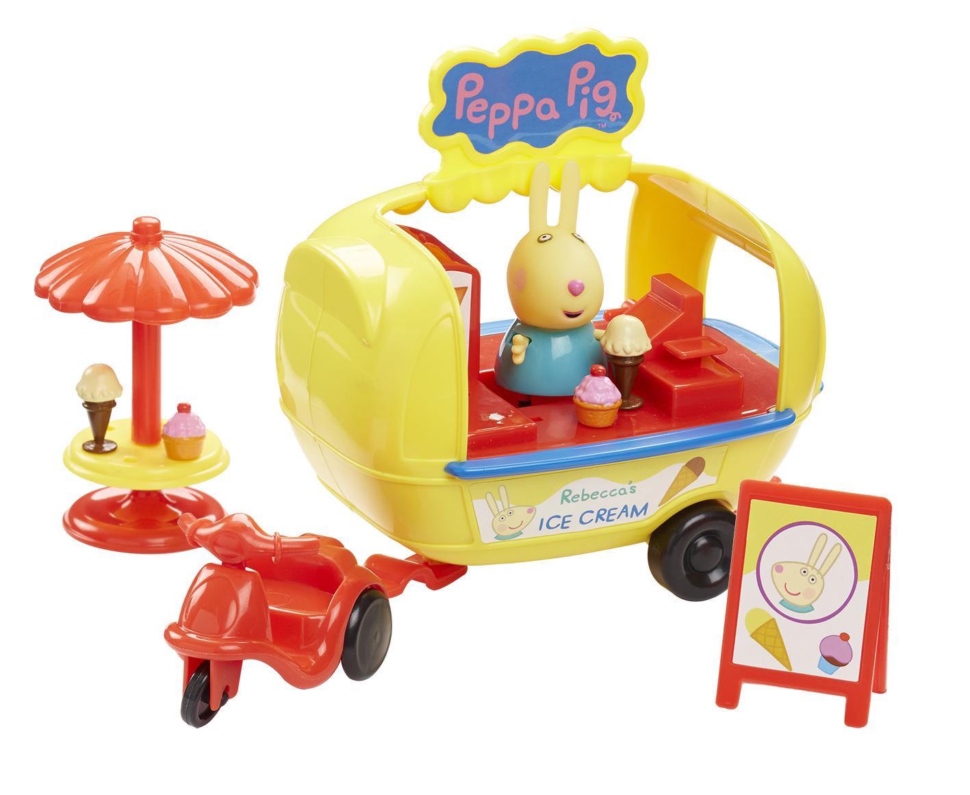 Peppa Pig Набор фигурок Кафе-мороженое Ребекки игровые наборы свинка пеппа peppa pig игровой набор кафе мороженое ребекки