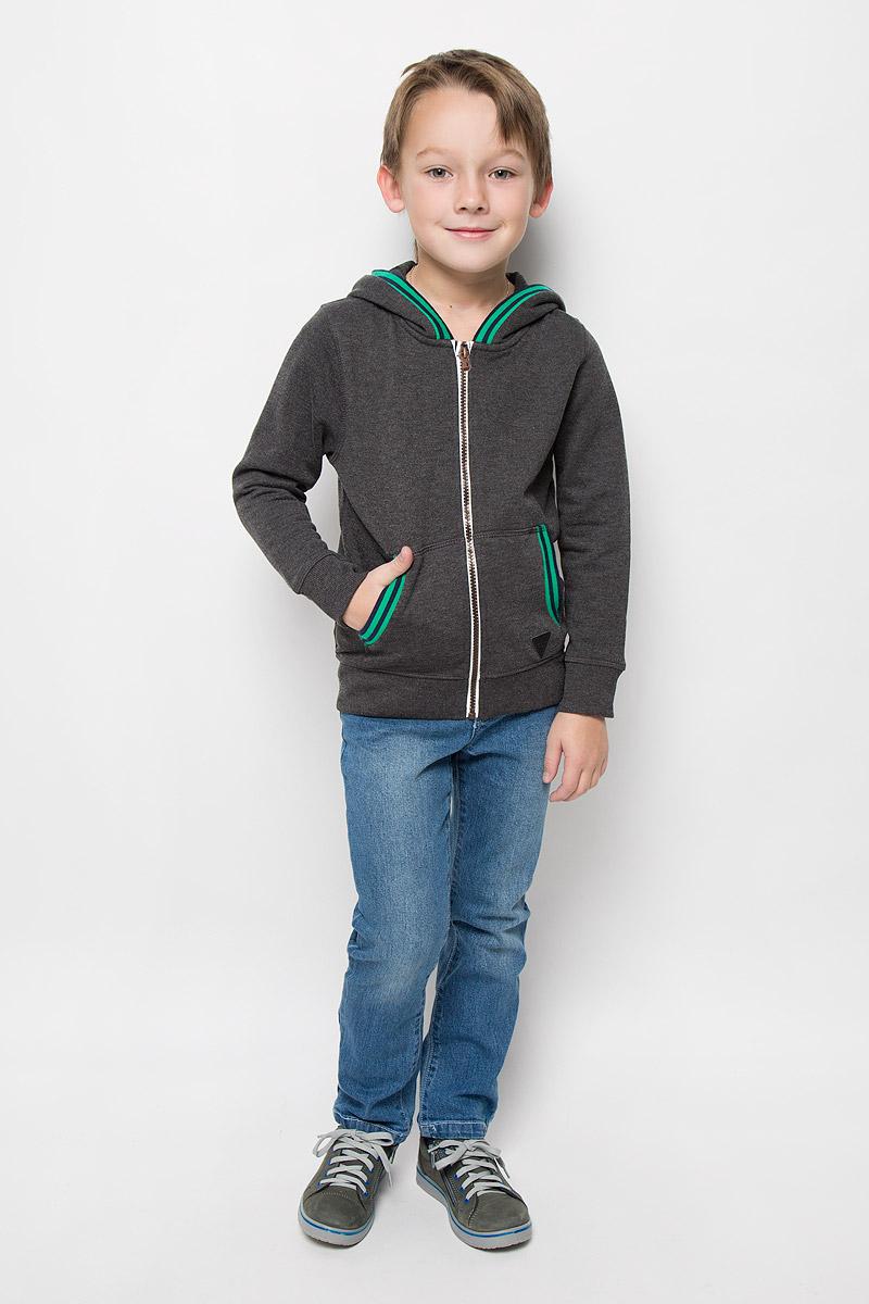 Толстовка для мальчика Tom Tailor, цвет: темно-серый. 2530383.00.82_2638. Размер 92/98
