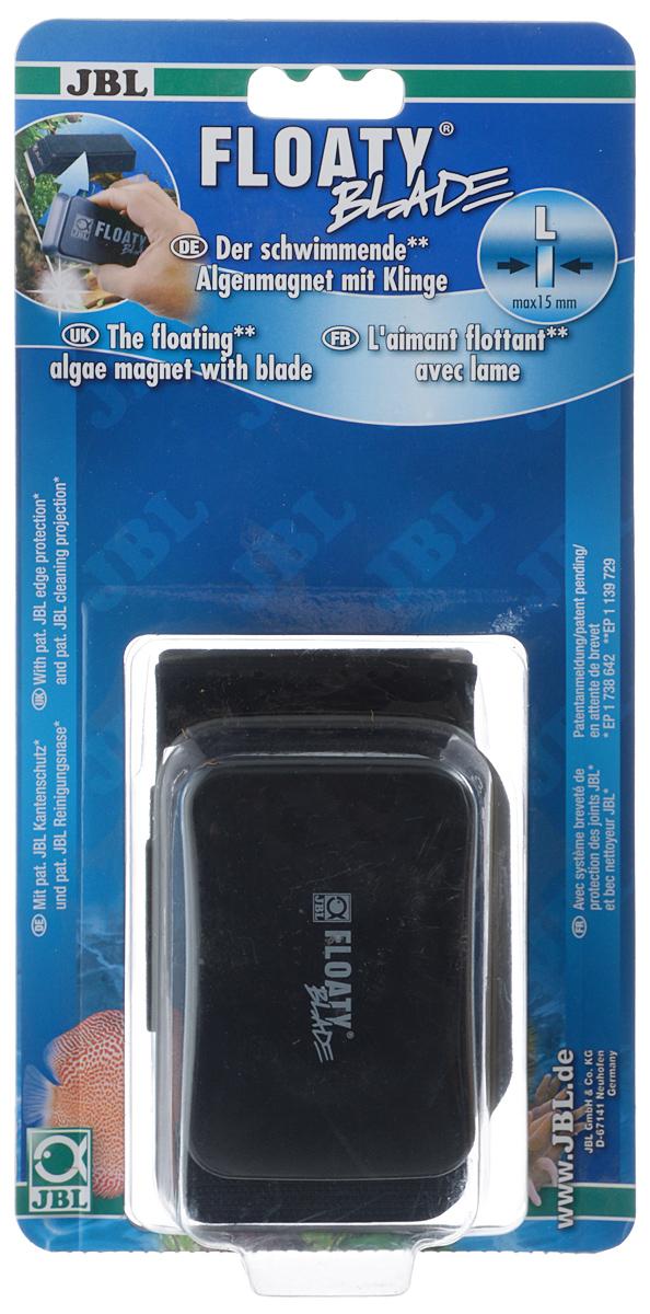 Скребок для аквариума JBL Floaty L Blade, магнитный, с лезвием скребок для аквариума хаген складной