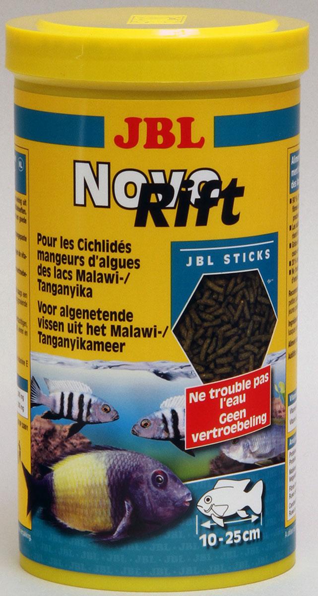 JBL NovoRift Корм для растительноядных восточноафриканских цихлид в форме палочек, 1000 мл (500 г) jbl novocrabs корм для панцирных ракообразных 100 мл 45 г