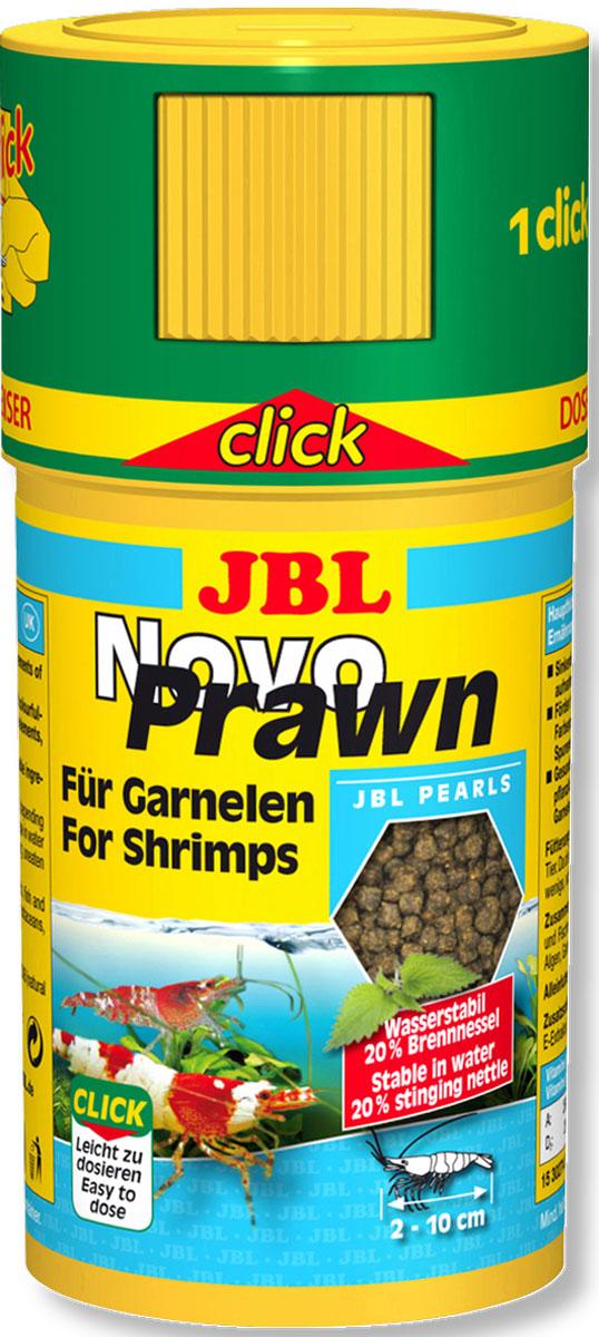 JBL NovoPrawn CLICK Корм для креветок, банка с дозатором, 100 мл (50 г) jbl novocrabs корм для панцирных ракообразных 100 мл 45 г