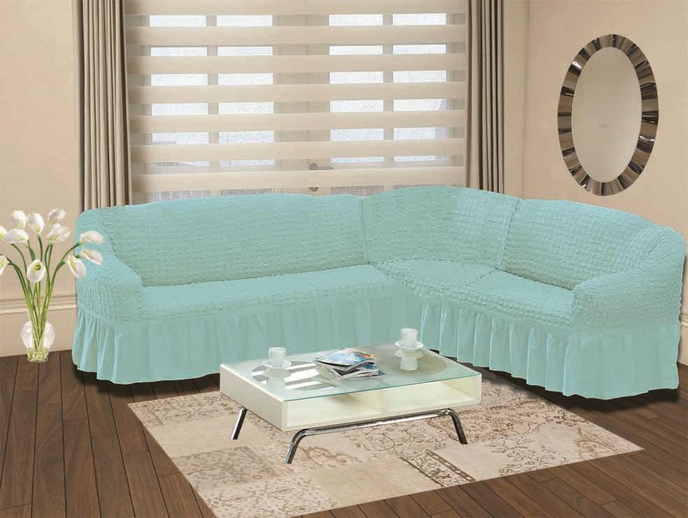 Чехол для дивана Burumcuk Bulsan, угловой, левосторонний, пятиместный, цвет: голубой1907/CHAR014Чехол для дивана Burumcuk выполнен из высококачественного полиэстера ихлопка скрасивым рельефом. Предназначен для углового дивана. Такой чехол изысканнодополнит интерьер вашего дома.Ширина посадочных мест короткой стороны: 140-190 см. Ширина посадочных мест длинной стороны: 210-260 см.Глубина посадочных мест: 70-80 см.Высота спинки от посадочного места: 70-80 см.Ширина подлокотников: 25-35 см.Высота юбки: 35 см.Тянется: + 30 см.
