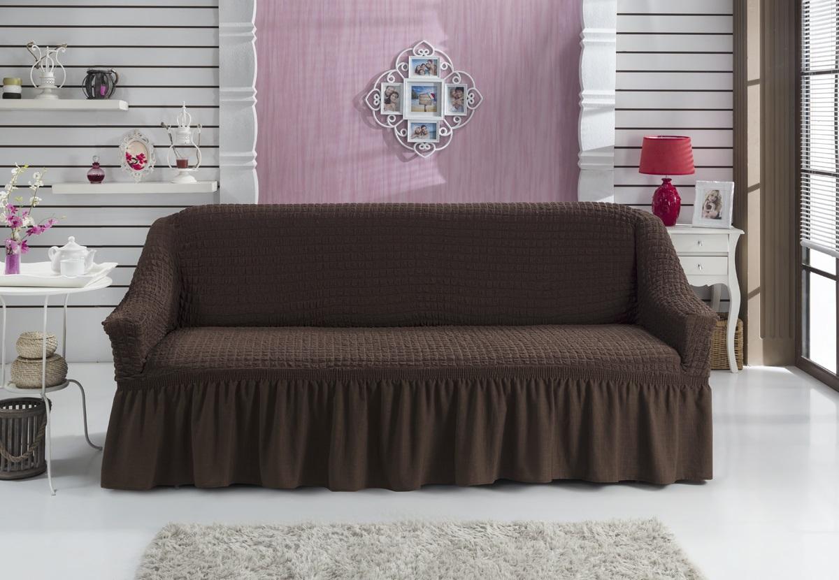 Чехол для дивана Karna Bulsan, двухместный, цвет: коричневый1717/CHAR008Фиксаторы позволяют надежно закрепить чехол Karna Bulsan на вашей мебели.Они вставляются в расстояние между спинкой и сиденьем,фиксируя чехол в одном положении, и не позволяют ему съезжать и терять форму.Фиксаторы особенно необходимы в том случае, если у васкожаная мебель или мебель нестандартных габаритов. Выполнен чехол извысококачественного полиэстера и хлопка. Ширина посадочных мест: 140-180 см. Глубина посадочных мест: 70-80 см. Высота спинки от посадочного места: 70-80 см. Ширина подлокотников: 25-35 см. Высота юбки: 35 см.