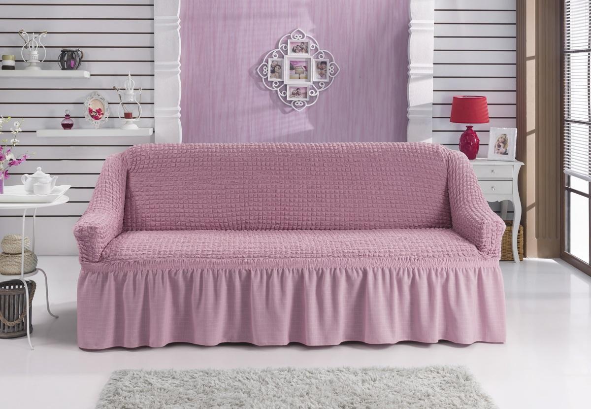 Чехол для дивана Karna Bulsan, двухместный, цвет: светло-розовый2027/CHAR012Фиксаторы позволяют надежно закрепить чехол Karna Bulsan на вашей мебели. Они вставляются в расстояние между спинкой и сиденьем, фиксируя чехол в одном положении, и не позволяют ему съезжать и терять форму. Фиксаторы особенно необходимы в том случае, если у вас кожаная мебель или мебель нестандартных габаритов. Выполнен чехол из высококачественного полиэстера и хлопка.Ширина посадочных мест: 140-180 см.Глубина посадочных мест: 70-80 см.Высота спинки от посадочного места: 70-80 см.Ширина подлокотников: 25-35 см.Высота юбки: 35 см.