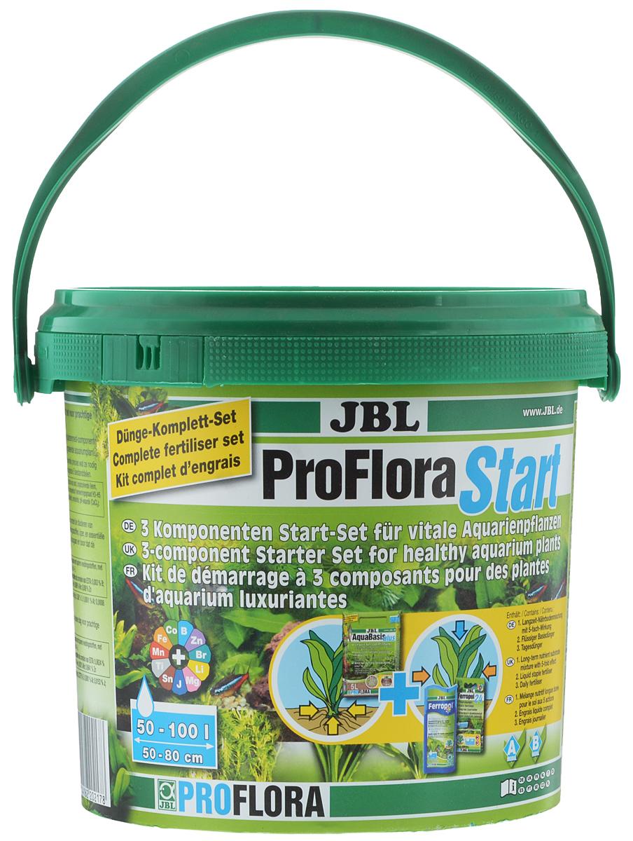 Комплекс удобрений для аквариумных растений JBL ProfloraStart Set, для аквариумов до 80 л. удобрение для гортензий и кислолюбивых растений compo 500 мл