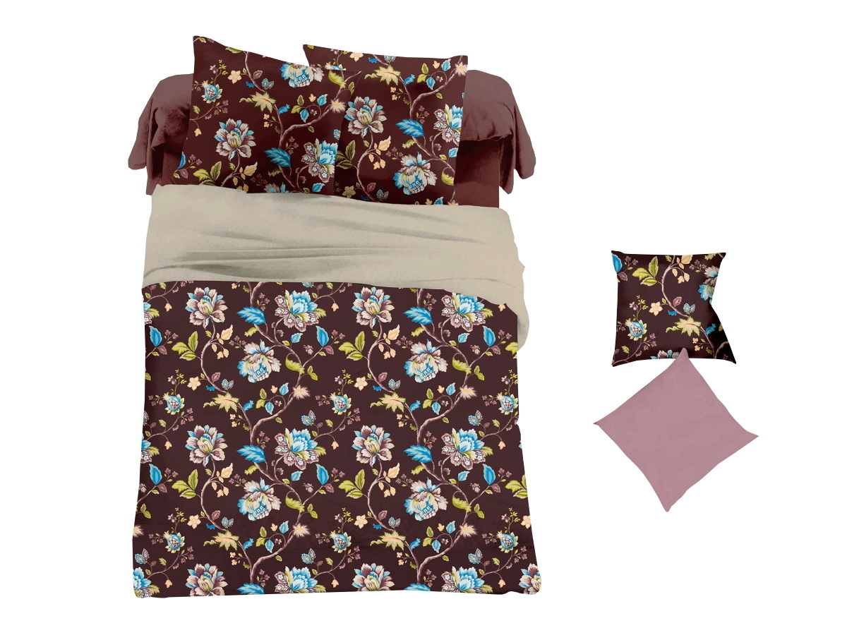 Комплект белья Cleo Шоколадный букет, 1,5-спальный, наволочки 70х7015/032-PLКоллекция постельного белья из микросатина CLEO – совершенство экономии, но не на качестве! Благодаря новейшим технологиям микросатин – это прочность, легкость, простота в уходе, всегда яркие цвета после стирки. Микро-сатин набирает все большую популярность, благодаря своим уникальным характеристикам. Окраска материала - стойкая, цветовая палитра - яркая, насыщенная. Микро-сатин хорошо впитывает влагу, а после стирки быстро сохнет, становясь шелковистым на ощупь, мягким и воздушным. Комплект состоит из пододеяльника, двух наволочек и простыни.