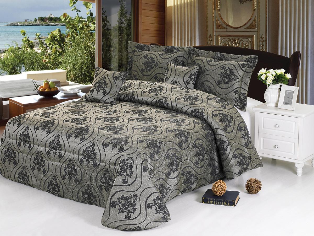 Комплект для спальни Cleo Серебряная парча: покрывало 240 х 260 см, 2 наволочки 50 х 70 см покрывало cleo барселона