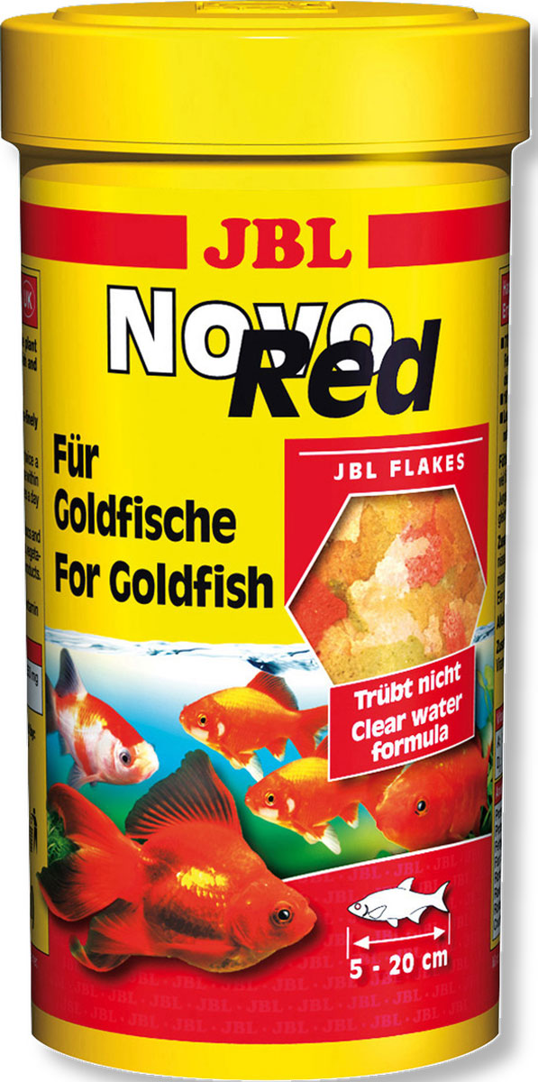 Корм JBL NovoRed для золотых рыб, в форме хлопьев, 1 л (190 г)JBL3022000Корм JBL NovoRed - это полноценный корм для оптимального роста золотых рыбок размером от 5 до 20 см, кормящихся в среднем и верхнем слоях воды. Корм питательный и легко усваивается, содержит ненасыщенные жирные кислоты благодаря зародышам пшеницы. Подходящее соотношение белков и жиров, высокое содержание растительных ингредиентов для здоровой пищеварительной системы. Корм не вызывает помутнения воды, сокращает рост водорослей благодаря правильному содержанию фосфатов, улучшает качество воды, в результате хорошей усвояемости снижается количество экскрементов. Не содержит рыбной муки низкого качества, использована рыба от производства филе для людей. Рекомендации по кормлению: 1-2 раза в день давайте столько, сколько питомцы съедают за несколько минут. Молодых растущих рыбок кормите 3-4 раза в день тем же способом. Состав: рыба и рыбные побочные продукты, моллюски и ракообразные, растительные побочные продукты, овощи, экстракты растительного белка, злаки, водоросли, яйца и продукты из яиц, дрожжи. Анализ состава: белок 35%, жир 5,5%, клетчатка 3%, зола 10%. Товар сертифицирован.